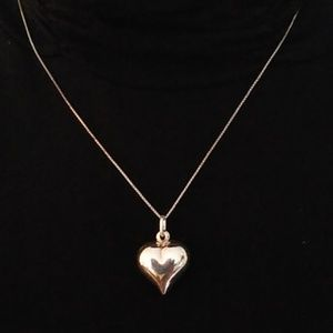 Sterling Silver Heart Necklace Italy 925